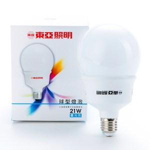 東亞 21W 省電球型 晝光色 1P