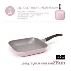 【韓國Chef Topf】薔薇/玫瑰鍋LA ROSE系列28公分四方型平底鍋