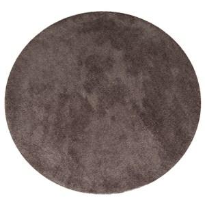HOLA 雪綸防蟎抗菌地毯 120x120cm 圓形 棕色