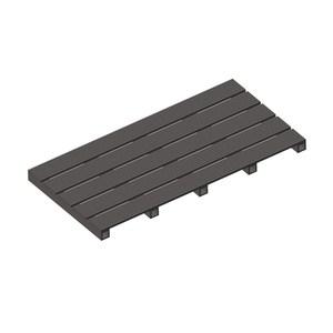 貝力塑木踏板45x90x4.7cm深灰
