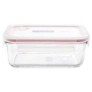 Glasslock 強化玻璃可微波氣孔上蓋保鮮盒 長方形 715ml