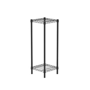 (組)特力屋烤漆二層架 -黑 33x33x90CM