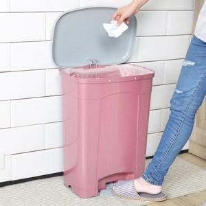 吉利潔腳踏式垃圾桶40L-粉紅