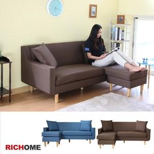 【RICHOME】神奈川日式L型沙發-咖啡色