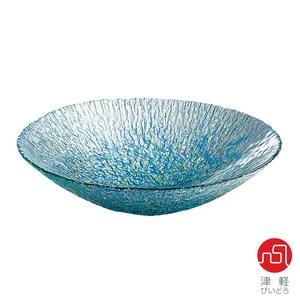 【津輕】藍彩琉璃水盤