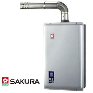 櫻花 SAKURA 強制排氣功能 瓦斯熱水器 16L SH-9166F (NG1/FE式)