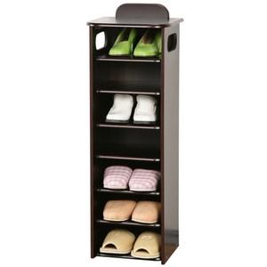 Homelike新歐風七層置物鞋櫃 胡桃木色