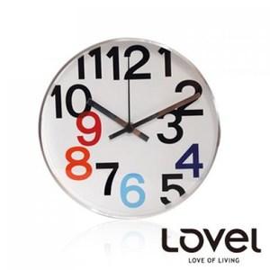 LOVEL 時尚簡約風格鋁框壁鐘/掛鐘20cm(個性數字B)