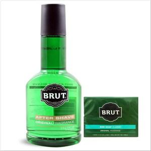 【美國 Brut】男士爽鬍水(5oz)*1+傳統古龍水香皂(3.5oz*2)*6