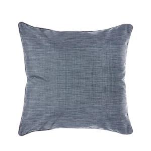 HOLA 素色拼色滾邊抱枕60x60cm 靛藍灰