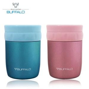 【BUFFALO牛頭牌】400ml食物罐(藍+粉)AF4A304_30藍+粉