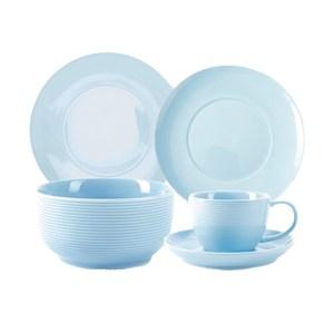 (組)璞真純色餐具淺藍4件組