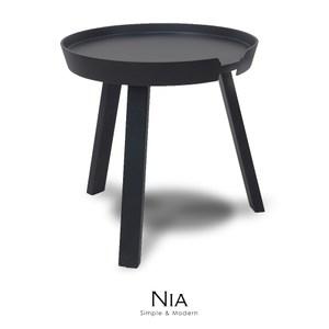 【obis】NIA尼亞邊桌-小(三色)黑色
