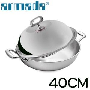 【armada 阿曼達】菁英5層316不鏽鋼複合金瑞士雙耳炒鍋(40c