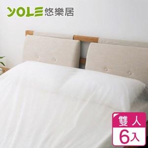 【YOLE悠樂居】旅行用拋棄式免洗床單(雙人180*200cm)6入
