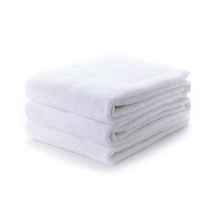 HOLA 純棉浴巾三件組 白 70x140cm
