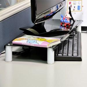 【ikloo】省空間桌上鍵盤架/螢幕架(尊爵黑)