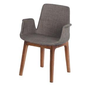 【YFS】班尼迪克布面胡桃餐椅-54x55x80cm