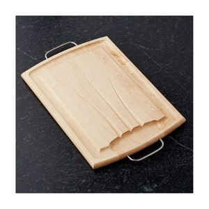 Crate&Barrel Maple 楓木溝槽雙面砧板
