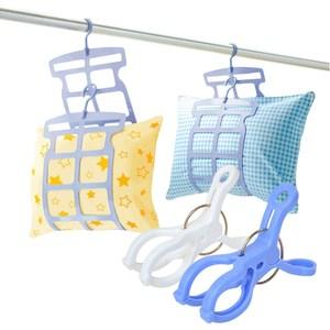 【買就送】日本SANADA多段式枕頭曬架4包8片裝(送6入曬竿夾)