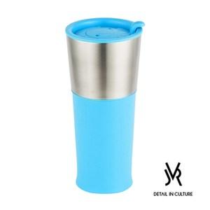 JVR 韓國原裝 BASIC不鏽鋼繽紛隨行杯450ml-共3色藍色