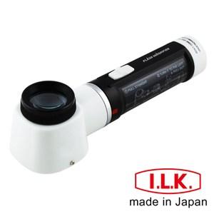 【日本I.L.K.】10x/30mm 日本製LED工作用量測立式放大鏡