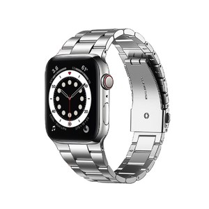 Apple Watch 6/SE 40mm不鏽鋼三珠蝶扣錶帶 星空銀