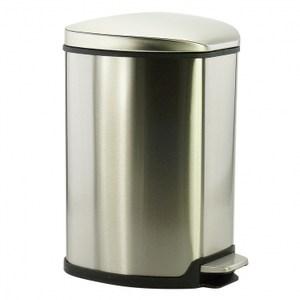 Grace緩降踏式垃圾桶9L-不鏽鋼