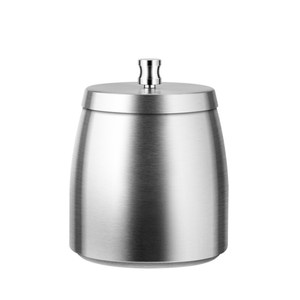 PUSH!居家生活用品不銹鋼帶蓋煙灰缸防風防飛煙灰缸不鏽鋼色D244不鏽鋼D244