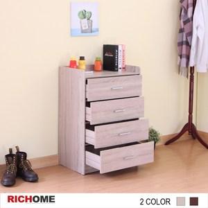 【RICHOME】超值空間四斗櫃-白橡色