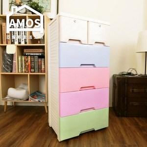 【Amos】玩具冰淇淋五層附輪塑膠收納櫃
