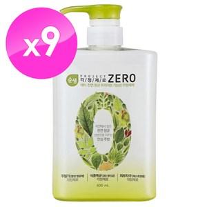 即期品【韓國AK】 ZERO全植物蔬果碗盤洗潔液 600mlX9入
