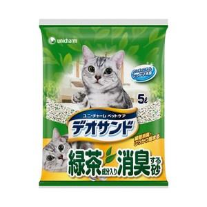 Unicharm 日本消臭大師消臭礦砂綠茶香-5LX2包