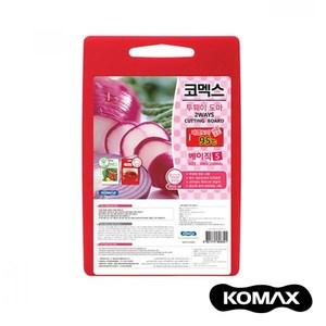 韓國KOMAX 抗菌銀離子紅白兩用砧板(小)小