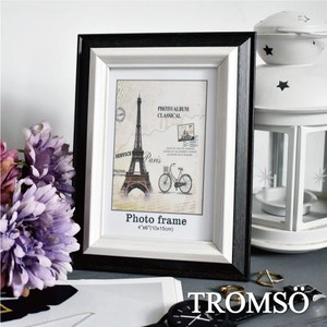 TROMSO巴黎撞色木紋4x6相框-黑