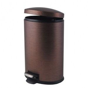 雅典仿木紋橢圓踏式垃圾桶 12L
