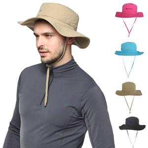 【PUSH!戶外登山休閒用品】透氣快乾UPF50+遮陽漁夫帽淺藍H21-2