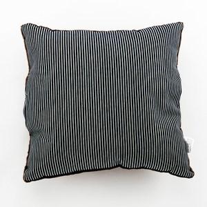 條紋牛仔法蘭絨暖手插枕