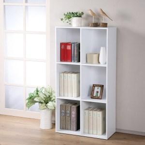 【Homelike】現代風三層六格置物櫃