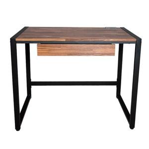 【DIJIA】工業風98CM工作桌(二色任選)胡桃拼木