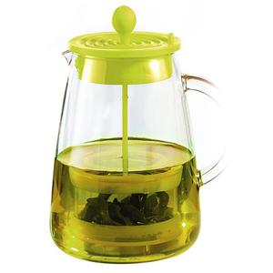 Artist 耐熱玻璃碧月壺/泡茶壺800ml 綠色