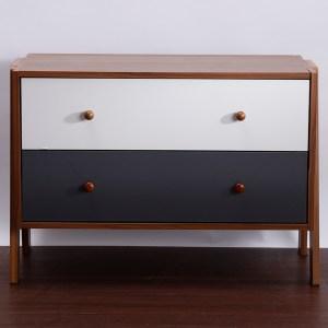 歐登可堆疊式二抽櫃 (採E1板材) 39.6x80x56cm