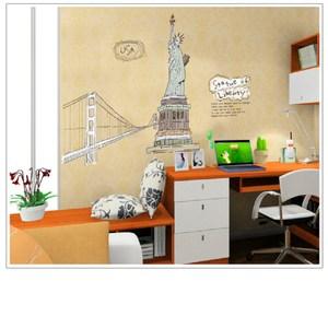 高級無痕環保壁貼 紐約自由女神 60x90cm 混款