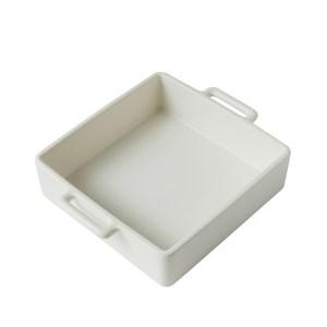 日本Kamoshika道具店 陶質調理盤(中,白)