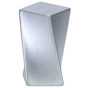 鋅合金/單孔把手(方形銀)