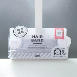 CB Japan 兒童動物造型超細纖維髮帶-無尾熊灰