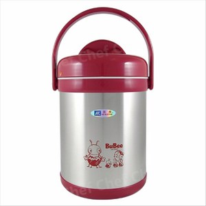 三光牌源味不銹鋼真空保溫提鍋1.5L附隔層保溫便當盒 紅色