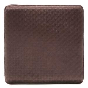 HOLA 短絨記憶棉坐墊 40x40cm 壓花棕