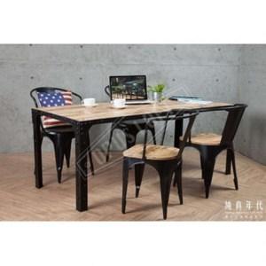復古工業風法式鐵框大餐桌【JIC-1220】180 x 78 x 71W180 x D78