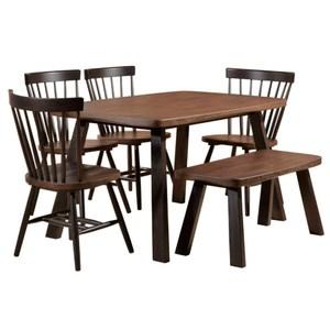 【YFS】Page胡桃4.5尺餐桌椅組138x85x75cm(一桌四椅